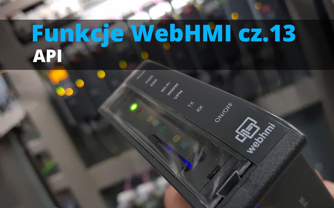 Funkcje WebHMI: API