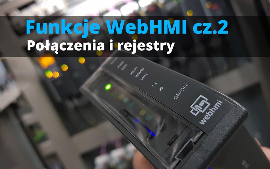 Funkcje WebHMI: Połączenia i rejestry