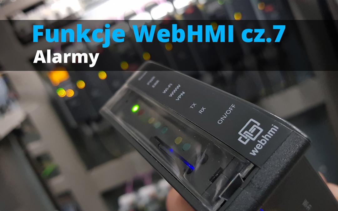 Funkcje WebHMI: Alarmy
