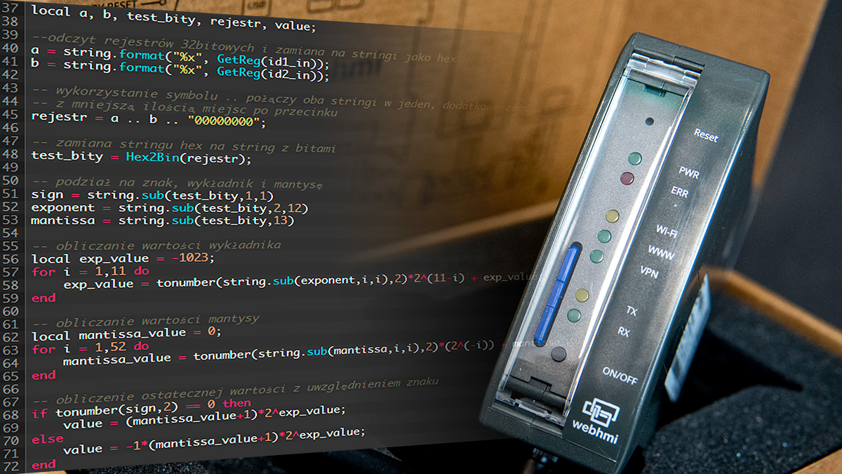 Odczytywanie liczby 64-bitowej na WebHMI