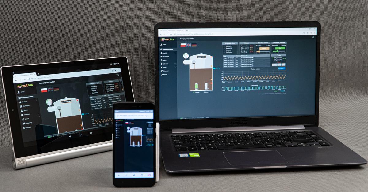 System SCADA na telefony, tablety i nie tylko – zobacz możliwości WebHMI